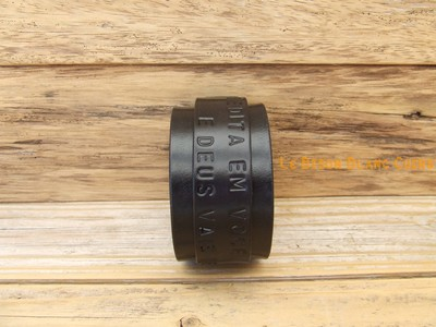 Bracelet de force en cuir bouton de COL inscriptions NOIR ANTIQUE (4)