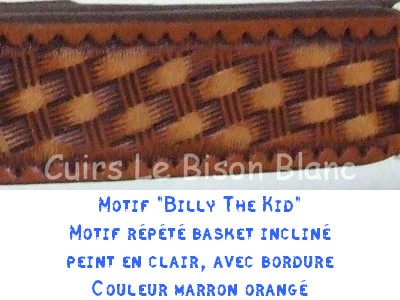 Fiche Billy the kid en 2,5 cm marron orangé